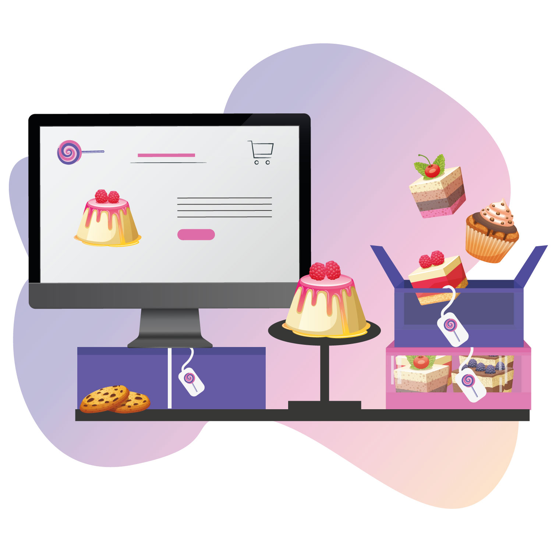 Business website on computer